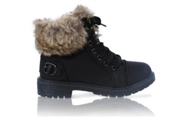 Ankle Faux Fur Ladies Boots