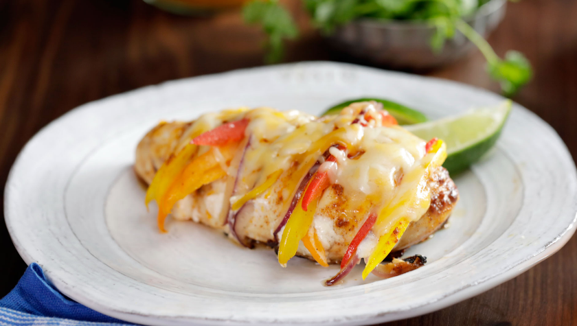 Mexican stuffed chicken breast