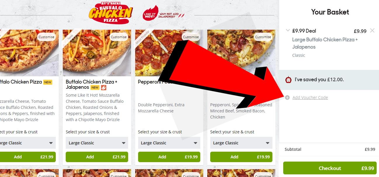 pizza hut nhs discount