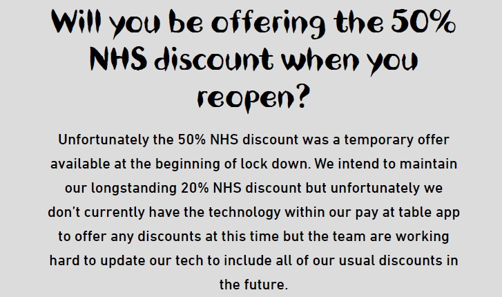 nandos nhs staff discount