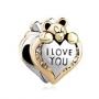 Pandora Bead - Pugster Heart I Love You Bear
